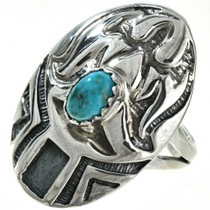 Thunderbird Turquoise Ladies Ring 29750