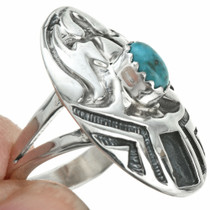 Sterling Turquoise Navajo Ring 29750