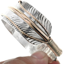 Navajo Hammered Feather Cuff 23566