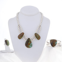 Southwest Turquoise Necklace Set 16926