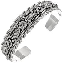 Silver Handmade Navajo Bracelet 22711