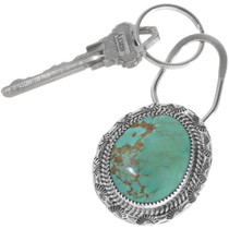 Genuine Turquoise Navajo Key Ring 12942