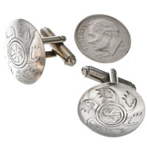 Cuff Links Silver Conchos