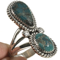 Navajo Turquoise Pointer Ring 28566