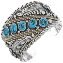 Big Boy Onyx Navajo Cuff 25154
