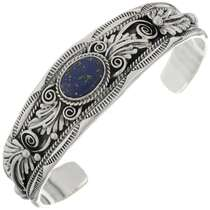 Native American Lapis Silver Cuff 16250