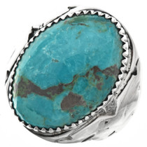 Turquoise Mountain Mens Ring 29677