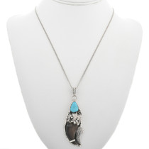Navajo Bear Claw Turquoise Pendant 25581