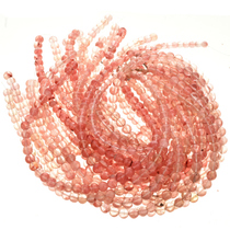 10mm Rose Quartz Glass Beads 16 inch Strand 0115