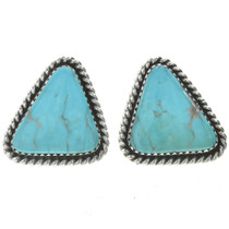 Navajo Turquoise Twist Wire Earrings 28525