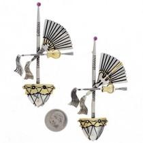 Navajo Medicine Man Gold Silver Pin 25094