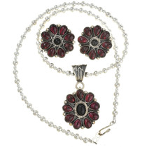 Sterling Silver Western Jewelry Set 28870