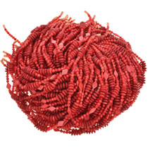 Red Pearl Beads 16 inch Long Strand Pre-Strung Variety 5mm, 10mm, & 15mm