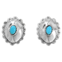 Navajo Turquoise Concho Earrings 22395