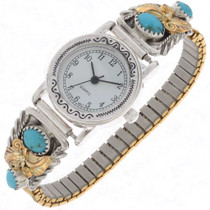 Turquoise Gold Ladies Watch 25167