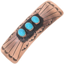 Navajo Turquoise Hair Barrette 24406