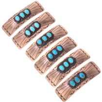 Copper Turquoise Hair Barrettes 24406