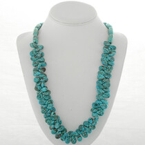 Navajo Beaded Turquoise Necklace 24200