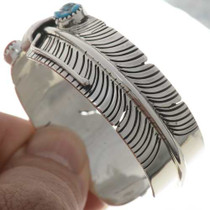 Navajo Silver Feather Cuff 27381