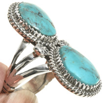 Ladies Turquoise Pointer Ring 28518