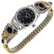 Gold Onyx Ladies Watch 24351
