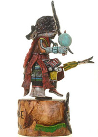 Hopi Sunface Kachina Doll by Master Indian Carver Milton Howard