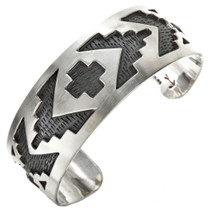 Southwest Silver Overlaid Cuff Bracelet 29506