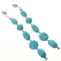 Turquoise Post Dangle Earrings 28399