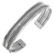 Navajo Sterling Silver Cuff 28346