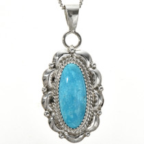 Optional Sterling Bale Turquoise Pendant 29175