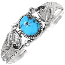 Navajo Sleeping Beauty Turquoise Bracelet 26748
