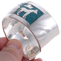 Turquoise Chip Inlay Cuff Bracelet 13232