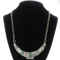 Inlaid Turquoise Opal Necklace 15161