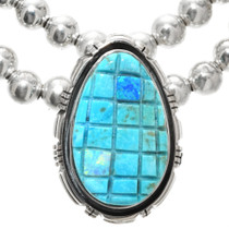 Hand Carved Turquoise Opal Necklace 29710