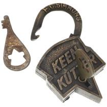 Working Replica 1800s Pad Lock 37102