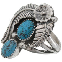 Navajo Turquoise Ladies Ring 27221