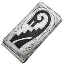 Southwest Silver Engraved Money Clip 21042