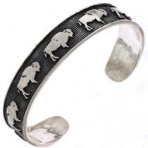 Navajo Silver Buffalo Bracelet 25487