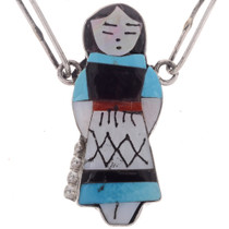Lapis Jet Turquoise Native American Necklace Set 28003