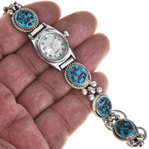 Natural Kingman Turquoise Watch Bracelet 25248