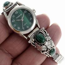 Geunine Malachite Sterling Watch 23527