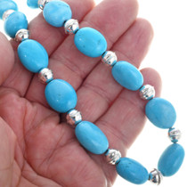 Navajo Beaded Blue Silver Choker 25260