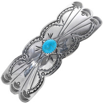 Turquoise Silver Hair Barrette 11544