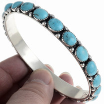Navajo Turquoise Bangle Bracelet 24461