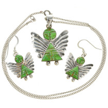 Silver Angel Pendant Set 29521