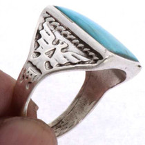 Navajo Turquoise Mens Ring 25495