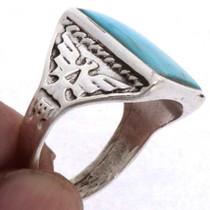 Navajo Turquoise Mens Ring 25495