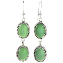 Green Turquoise Silver Earrings 29066