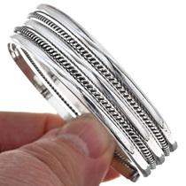 Southwest Silver Twist Wire Bracelet 29644