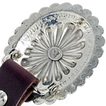 Hammered Silver Concho Belt 22814
